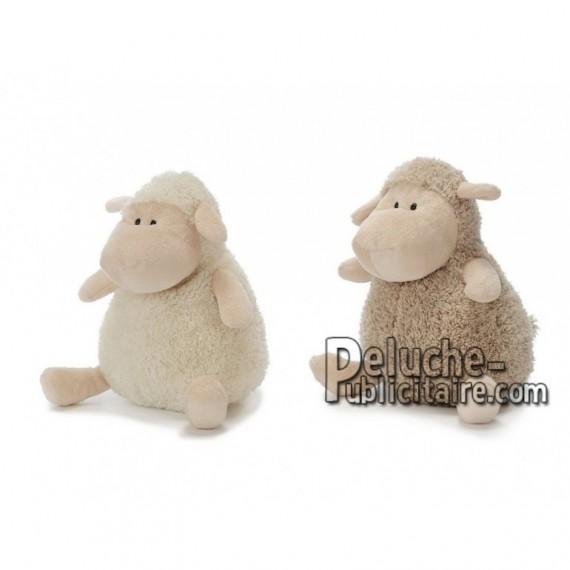 Achat peluche mouton beige 20cm. Peluche personnalisée.