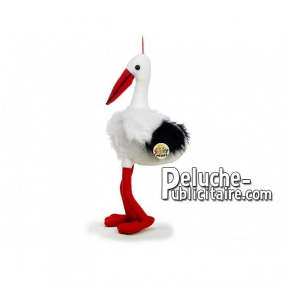 Achat peluche cigogne blanc 50cm. Peluche personnalisée.