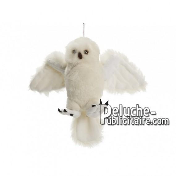 Achat peluche chouette neige blanc 21cm. Peluche personnalisée.
