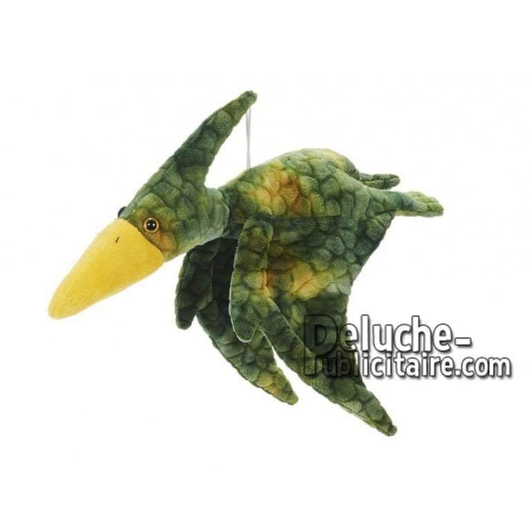 Achat peluche ptérosaure vert 40cm. Peluche personnalisée.