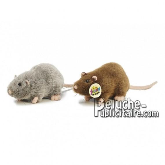 Achat peluche rat gris 20cm. Peluche personnalisée.