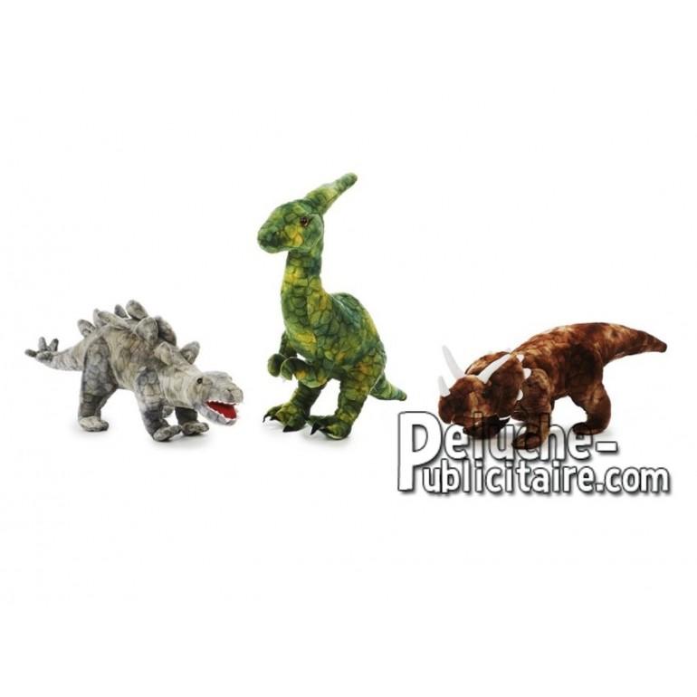 Achat peluche dinosaure multicolore 50cm. Peluche personnalisée.