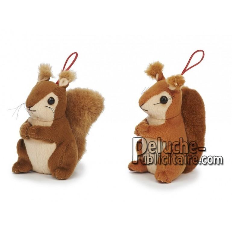 Achat peluche écureuil marron 11cm. Peluche personnalisée.