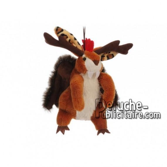 Achat peluche wolpertinger multicolore 17cm. Peluche personnalisée.