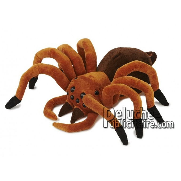 Achat peluche araignée marron 32cm. Peluche personnalisée.