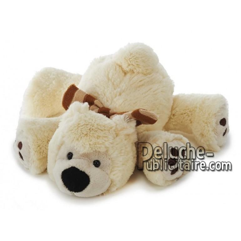 Achat peluche ours allongé beige 25cm. Peluche personnalisée.