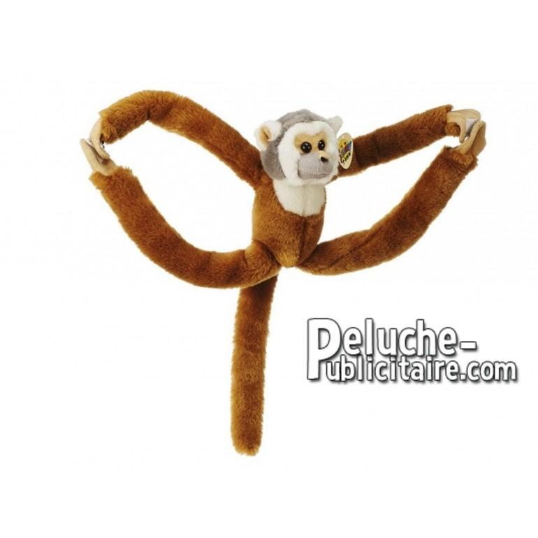 Achat peluche singe marron 40cm. Peluche personnalisée.