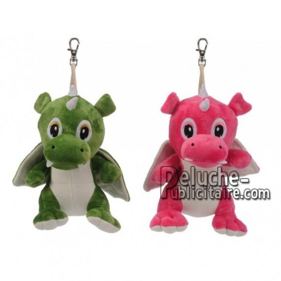 Achat porte-clés dragon vert 12cm. Peluche personnalisée.