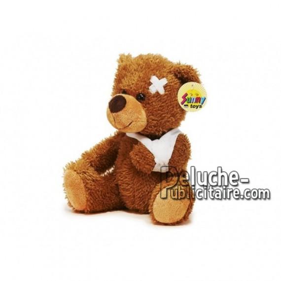 Achat peluche ours blessé marron 21cm. Peluche personnalisée.