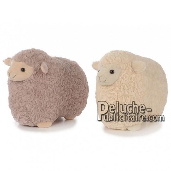 Achat peluche mouton beige 45cm. Peluche personnalisée.