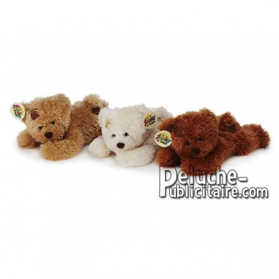 Achat peluche ours allongés multicolore 25cm. Peluche personnalisée.