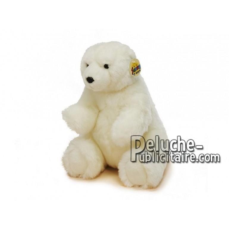 Achat peluche ours polaire blanc 30cm. Peluche personnalisée.