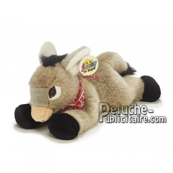 Achat peluche âne gris 30cm. Peluche personnalisée.
