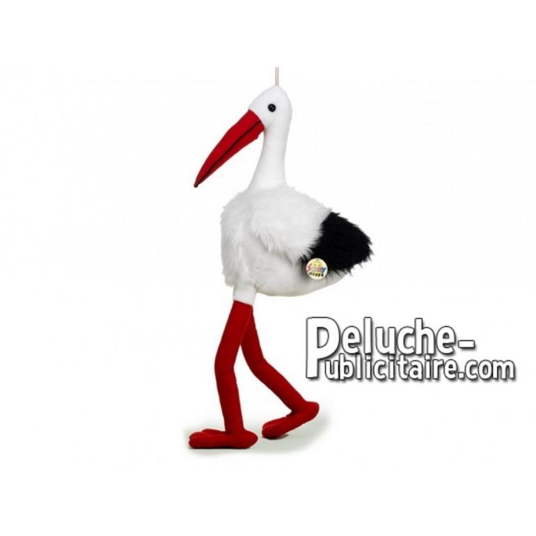 Achat peluche cigogne blanc 75cm. Peluche personnalisée.