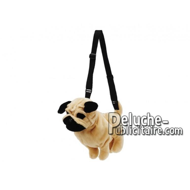Achat sac à dos chien marron 35cm. Peluche personnalisée.