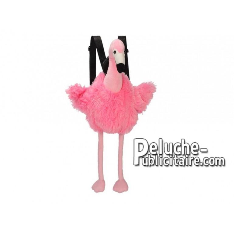 Achat sac à dos flamant rose rose 55cm. Peluche personnalisée.