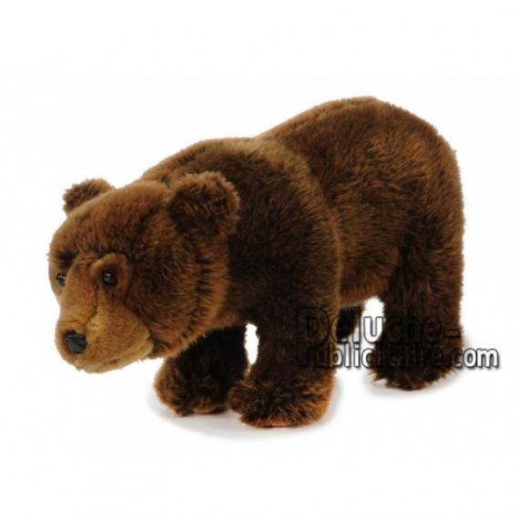Achat peluche ours debout marron 30cm. Peluche personnalisée.