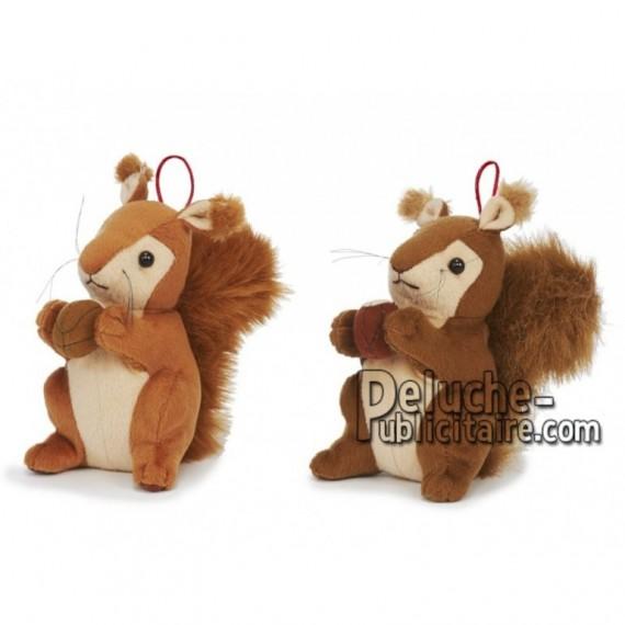 Achat peluche écureuil marron 15cm. Peluche personnalisée.