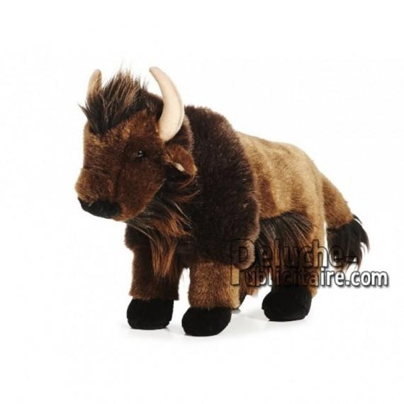 Achat peluche bison marron 30cm. Peluche personnalisée.
