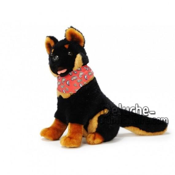 Achat peluche chien berger allemand noir 30cm. Peluche personnalisée.