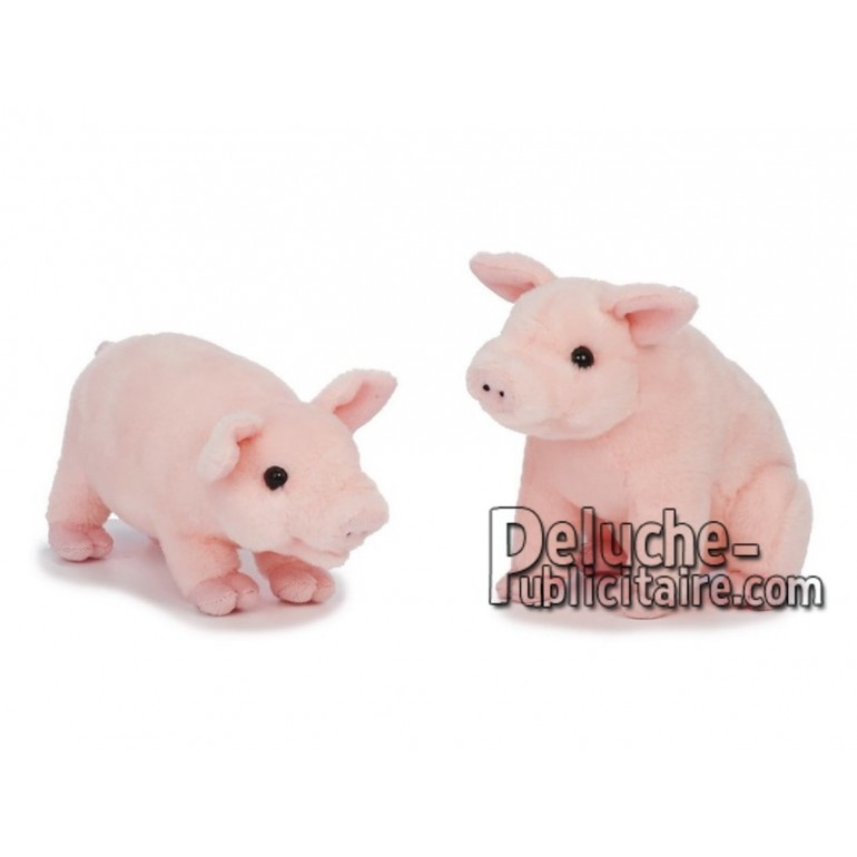 Achat peluche cochon rose 20cm. Peluche personnalisée.