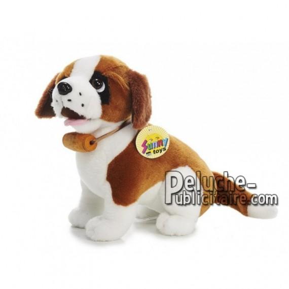 Achat peluche chien avec baril marron 24cm. Peluche personnalisée.