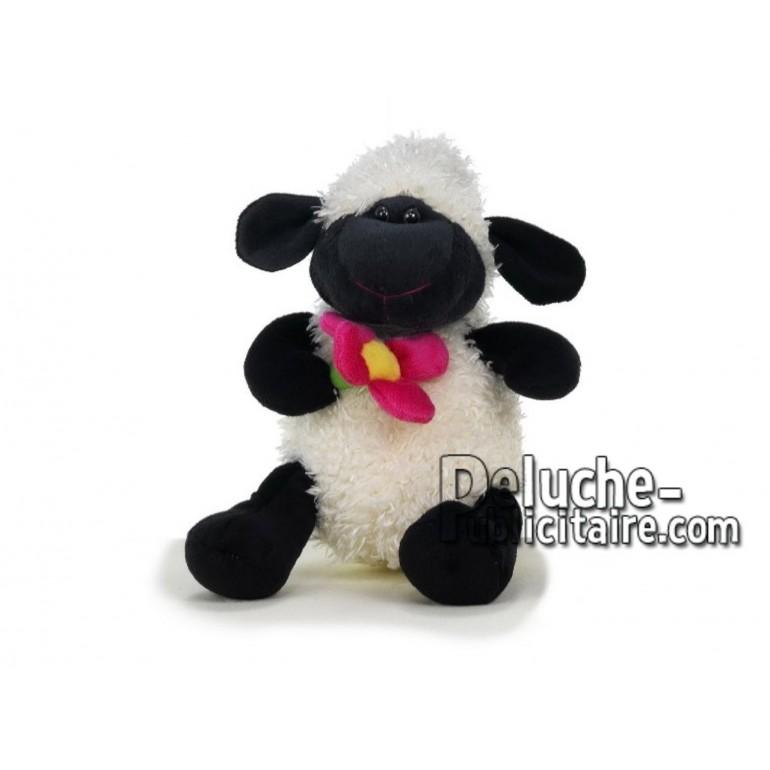 Achat peluche mouton blanc 22cm. Peluche personnalisée.