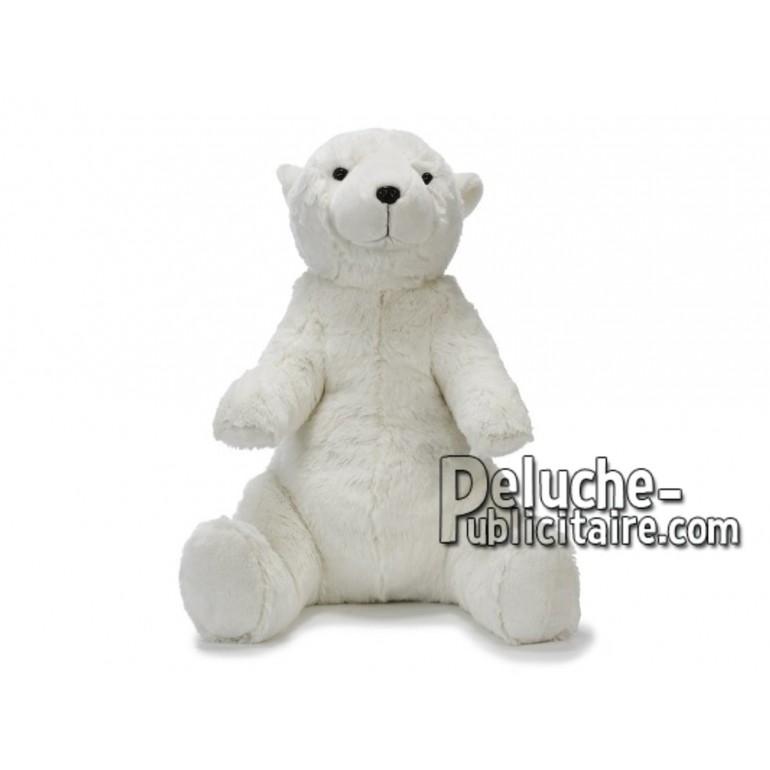 Achat peluche ours polaire assis blanc 60cm. Peluche personnalisée.