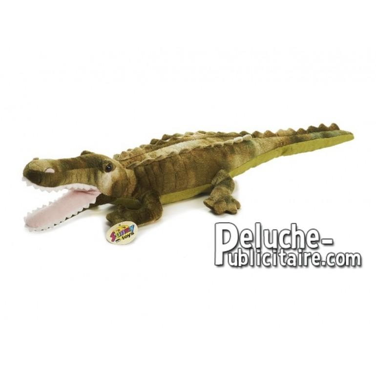 Achat peluche crocodile vert 55cm. Peluche personnalisée.
