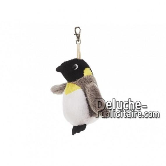 Achat porte-clés pingouin multicolore 9cm. Peluche personnalisée.