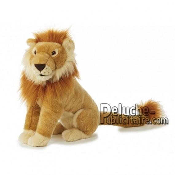 Achat peluche lion marron 40cm. Peluche personnalisée.