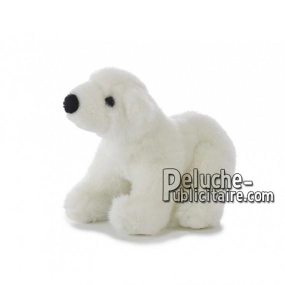 Achat peluche ours polaire blanc 20cm. Peluche personnalisée.