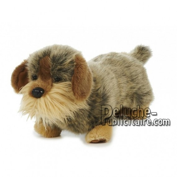 Achat peluche chien teckel marron 35cm. Peluche personnalisée.