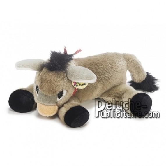 Achat peluche âne gris 35cm. Peluche personnalisée.