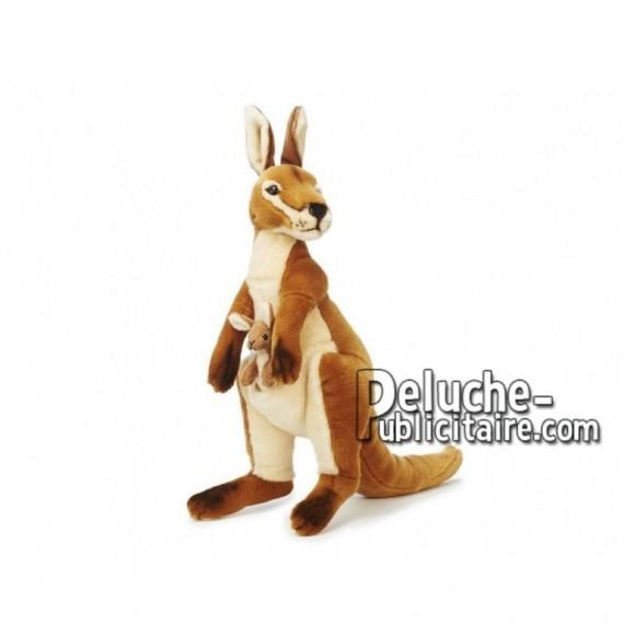 Achat peluche kangourou marron 44cm. Peluche personnalisée.