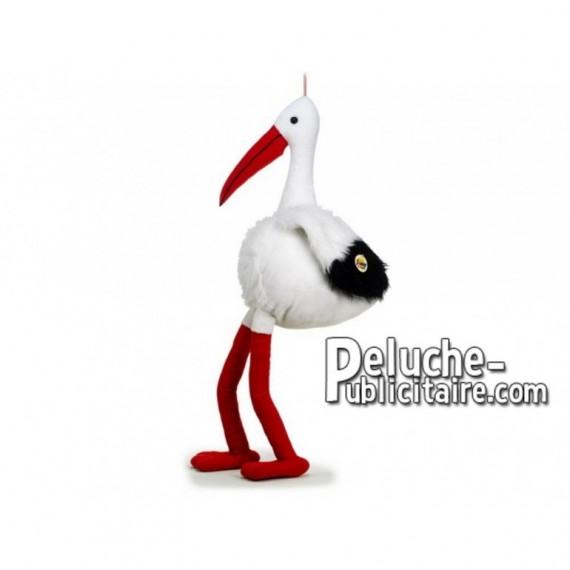 Achat peluche cigogne blanc 90cm. Peluche personnalisée.