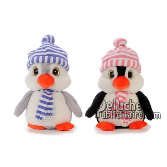 Achat peluche pingouin noir 35cm. Peluche personnalisée.