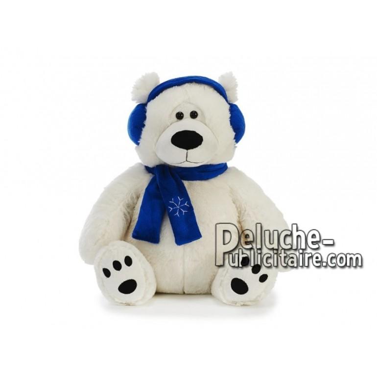 Achat peluche ours polaire blanc 42cm. Peluche personnalisée.