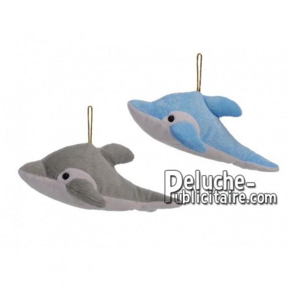 Achat peluche dauphin gris 23cm. Peluche personnalisée.