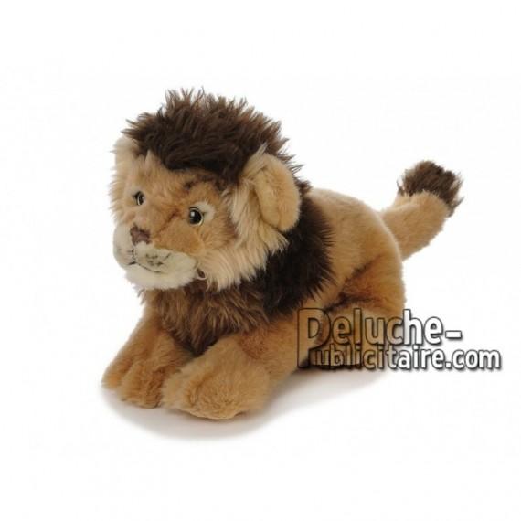 Achat peluche lion marron 38cm. Peluche personnalisée.