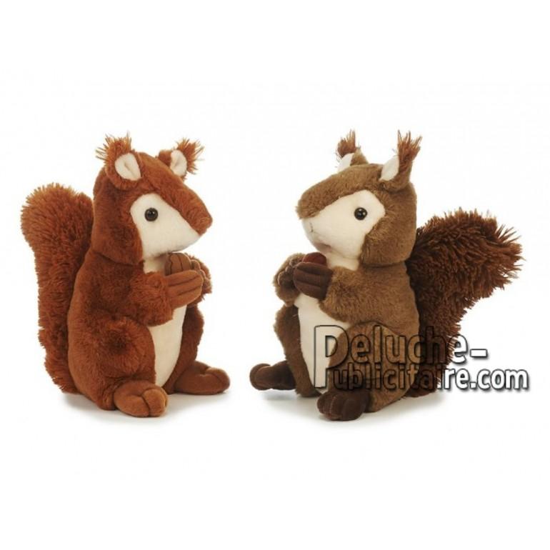 Achat peluche écureuil marron 25cm. Peluche personnalisée.