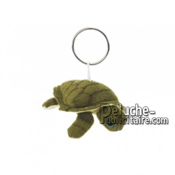 Achat porte-clés tortue vert 9cm. Peluche personnalisée.