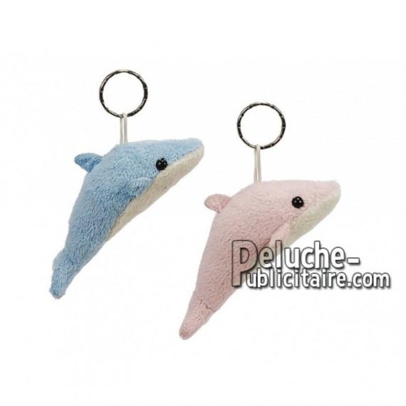 Achat porte-clés dauphin bleu 8cm. Peluche personnalisée.
