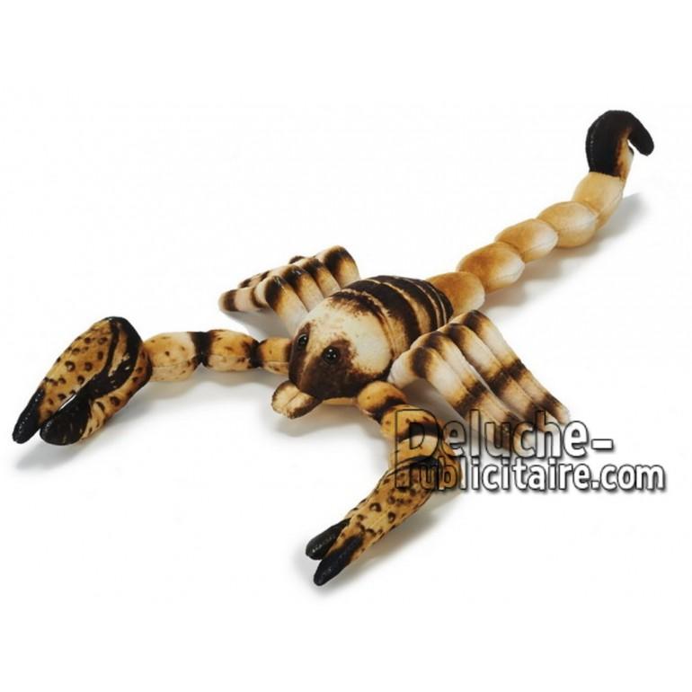 Achat peluche scorpion marron 50cm. Peluche personnalisée.