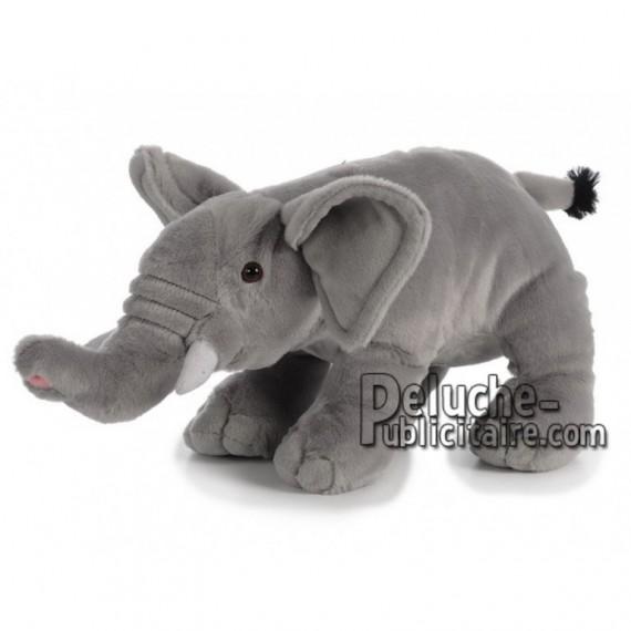 Achat peluche elephant gris 38cm. Peluche personnalisée.