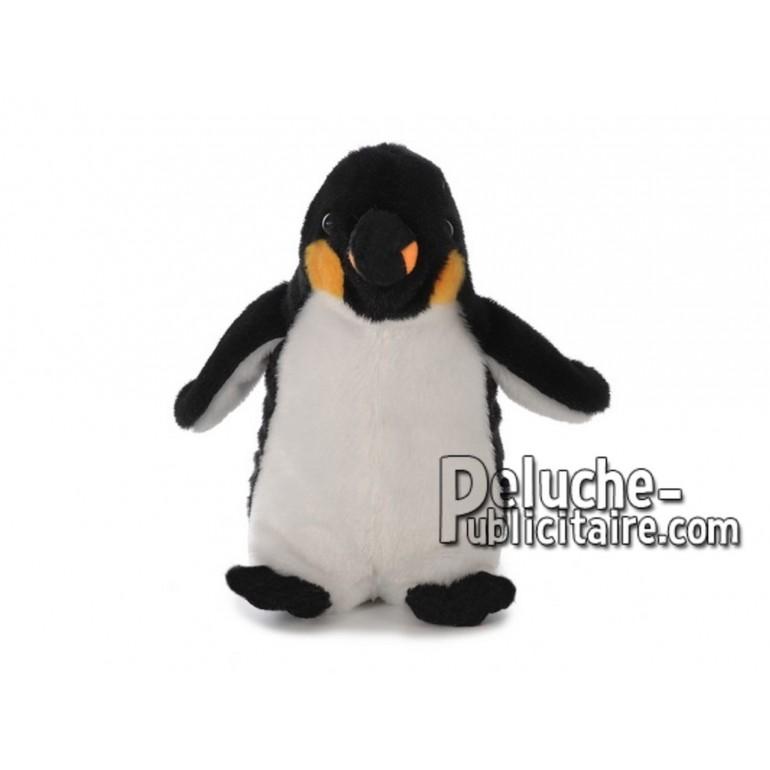 Achat peluche pingouin debout multicolore 20cm. Peluche personnalisée.