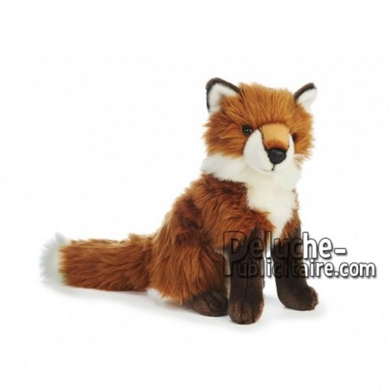 Achat peluche renard assis multicolore 30cm. Peluche personnalisée.
