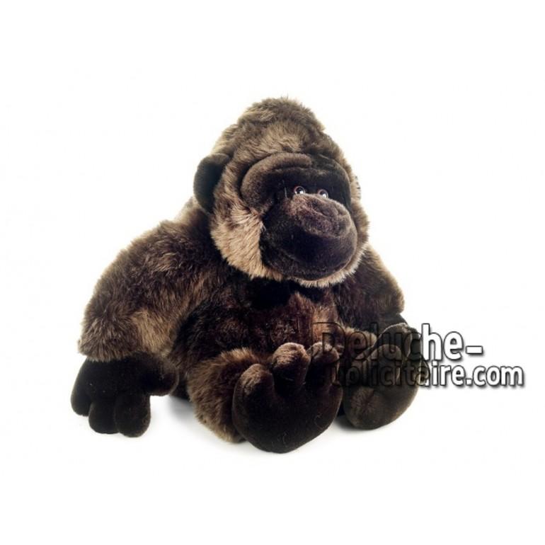 Achat peluche gorille marron 45cm. Peluche personnalisée.