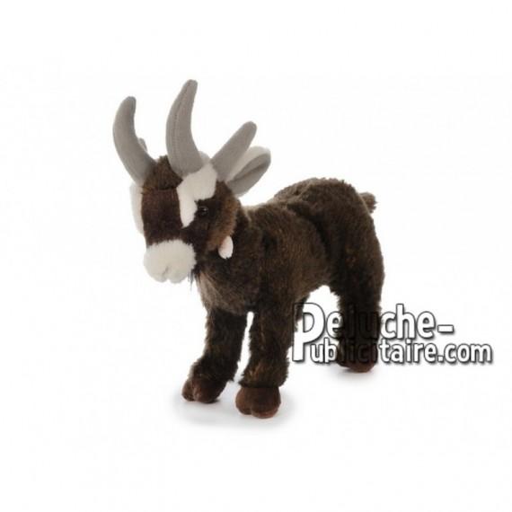 Achat peluche chèvre marron 28cm. Peluche personnalisée.