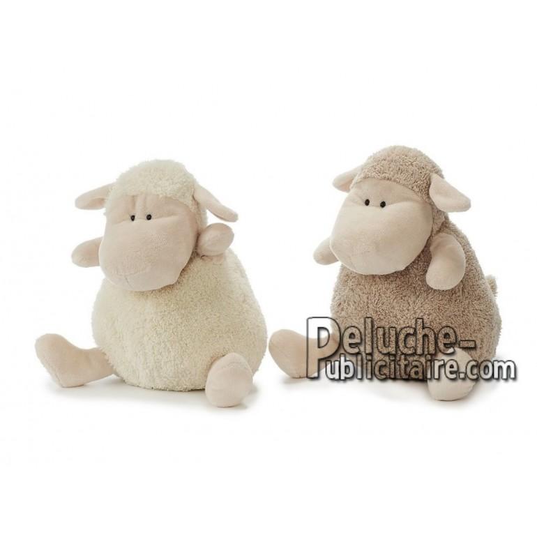 Achat peluche mouton beige 30cm. Peluche personnalisée.